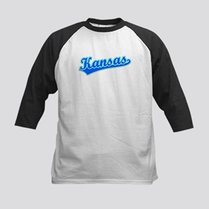 Retro Kansas (Blue) Kids Baseball Jersey
