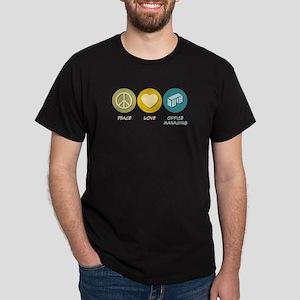 Peace Love Office Managing Dark T-Shirt