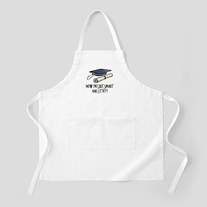 Smart Funny Grad BBQ Apron