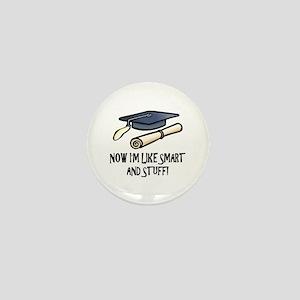 Smart Funny Grad Mini Button