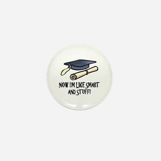 Smart Funny Grad Mini Button