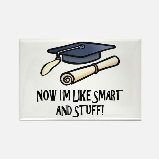 Smart Funny Grad Rectangle Magnet (100 pack)