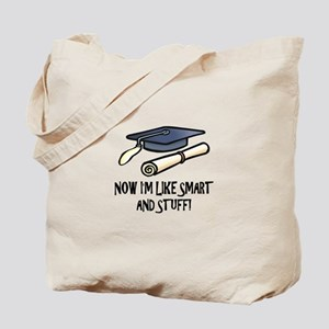 Smart Funny Grad Tote Bag