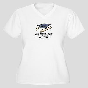 Smart Funny Grad Women's Plus Size V-Neck T-Shirt