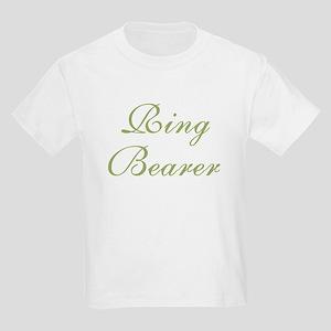 Ring Bearer Green Text Kids T-Shirt