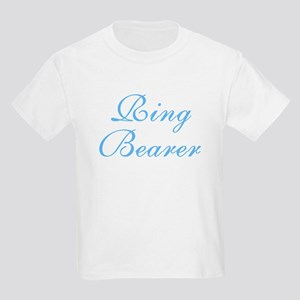 Ring Bearer Blue Elegant Text Kids T-Shirt