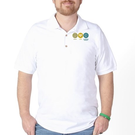 Peace Love Occupational Therapy Golf Shirt