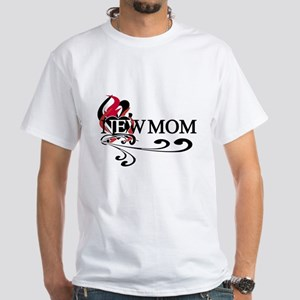 Baby Girl Proud Mom White T-Shirt
