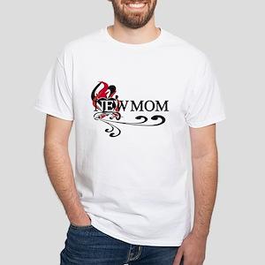 Baby Girl Proud Mom White T-Shirt