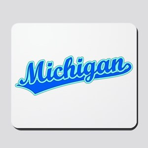 Retro Michigan (Blue) Mousepad