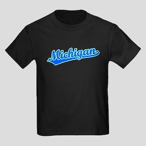 Retro Michigan (Blue) Kids Dark T-Shirt