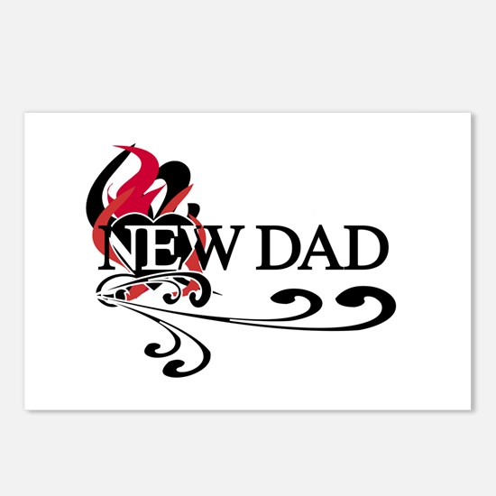 Heart New Dad Postcards (Package of 8)