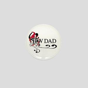 Heart New Dad Mini Button