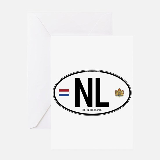 Netherlands Intl Oval Greeting Card