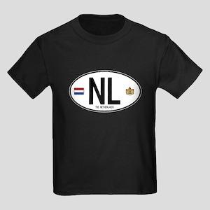 Netherlands Intl Oval Kids Dark T-Shirt