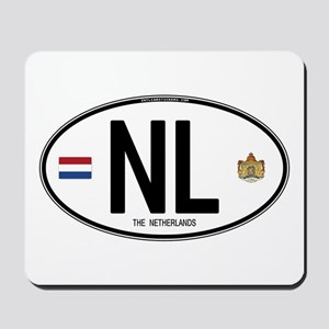 Netherlands Intl Oval Mousepad