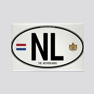 Netherlands Intl Oval Rectangle Magnet