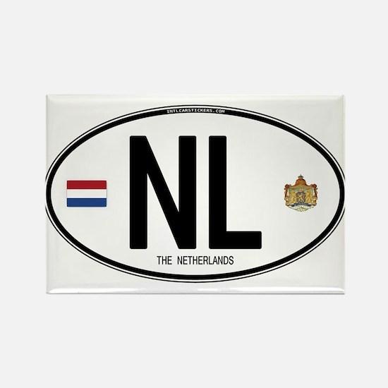 Netherlands Intl Oval Rectangle Magnet