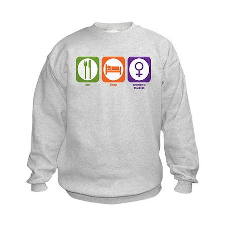 Eat Sleep Women's Studies Kids Sweatshirt
