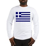 Greek Flag Long Sleeve T-Shirt