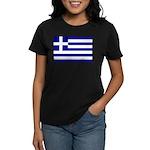 Greek Flag Women's Dark T-Shirt