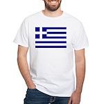Greek Flag White T-Shirt