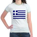 Greek Flag Jr. Ringer T-Shirt