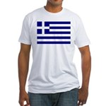 Greek Flag Fitted T-Shirt