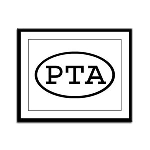 PTA Oval Framed Panel Print
