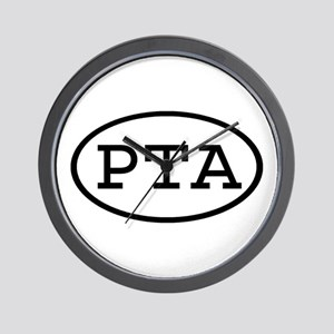 PTA Oval Wall Clock