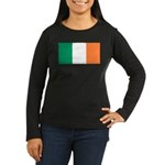 Irish Flag Women's Long Sleeve Dark T-Shirt