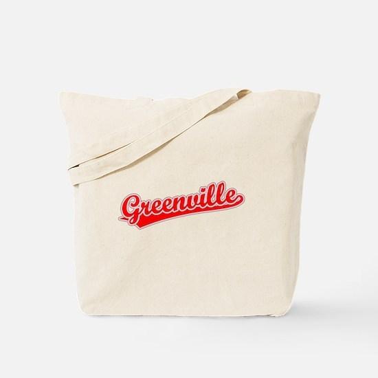 Retro Greenville (Red) Tote Bag