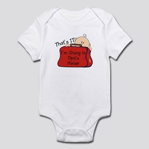Going to Opa's Funny Infant Bodysuit