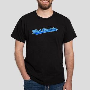 Retro West Virginia (Blue) Dark T-Shirt