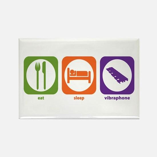 Eat Sleep Vibraphone Rectangle Magnet