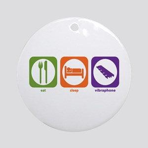Eat Sleep Vibraphone Ornament (Round)