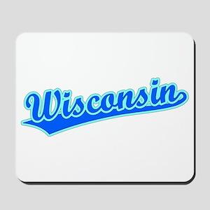 Retro Wisconsin (Blue) Mousepad