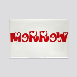 Morrow Surname Heart Design Magnets