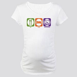 Eat Sleep Ultrasounds Maternity T-Shirt