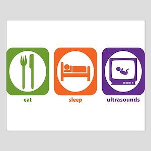Eat Sleep Ultrasounds Small Poster