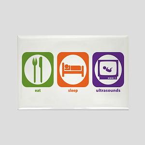 Eat Sleep Ultrasounds Rectangle Magnet