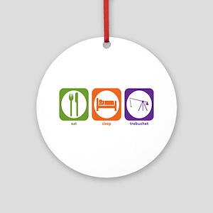 Eat Sleep Trebuchet Ornament (Round)