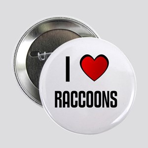 I LOVE RACCOONS Button