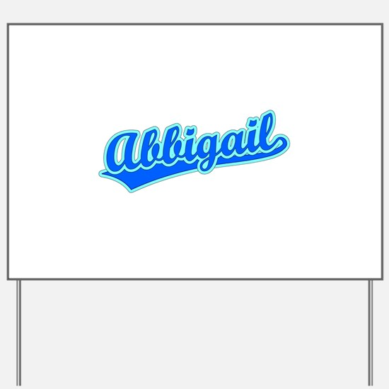 Retro Abbigail (Blue) Yard Sign