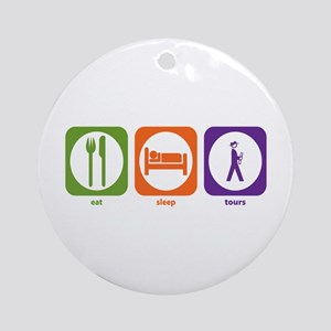 Eat Sleep Tours Ornament (Round)