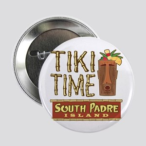 "Tiki Time on South Padre - 2.25"" Button"