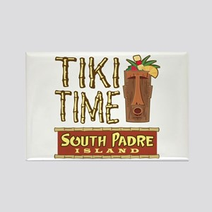 Tiki Time on South Padre - Rectangle Magnet