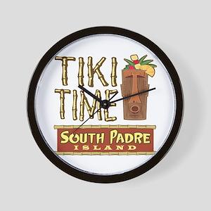 Tiki Time on South Padre - Wall Clock