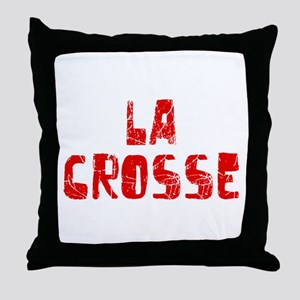 La Crosse Faded (Red) Throw Pillow