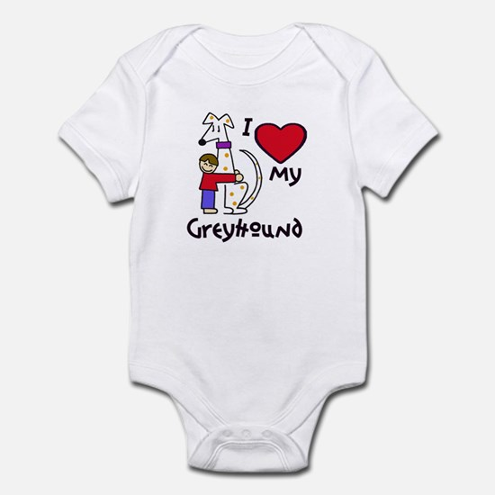 Brown-Haired Boy, Fawn-Spotte Infant Bodysuit